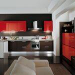кухня в красном и черном исполнении