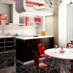 красная и черная мебель