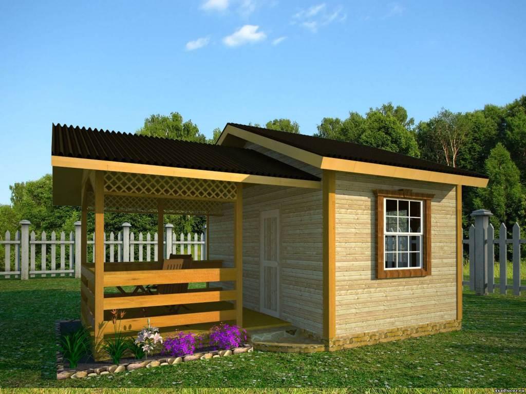 Домик для летней кухни на даче