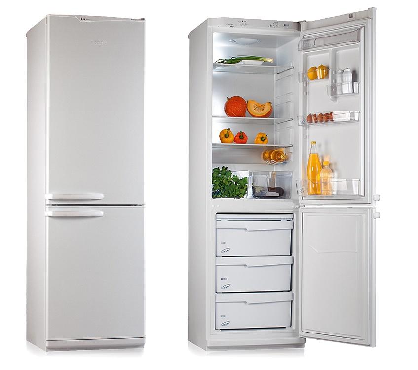 Двухкамерный холодильник открытый