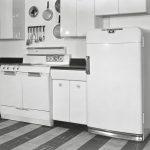 дизайнерский холодильник для ретро кухни
