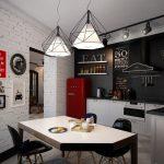 необычные светильники для ретро кухни