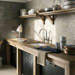 простая деревянная мебель для ретро кухни