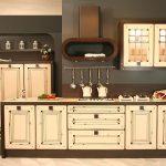 мебель для линейной кухни ретро