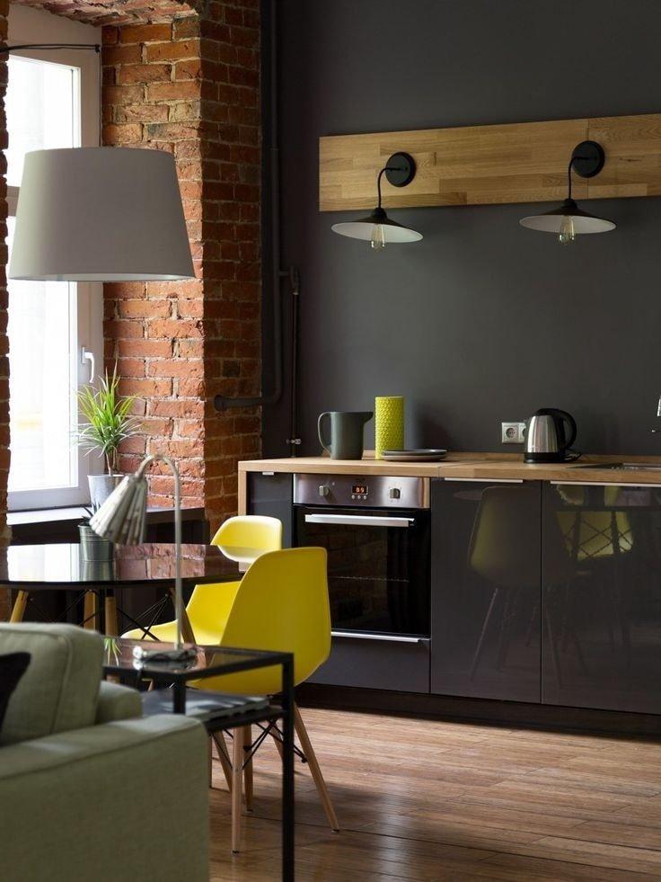 это время стиль лофт в квартире на кухне фото хочется