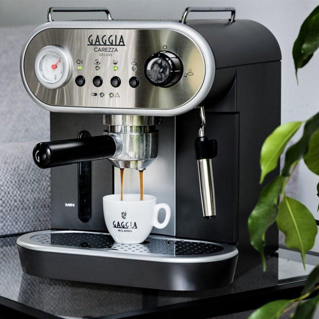 рожковая кофеварка с раздвоенным рожком