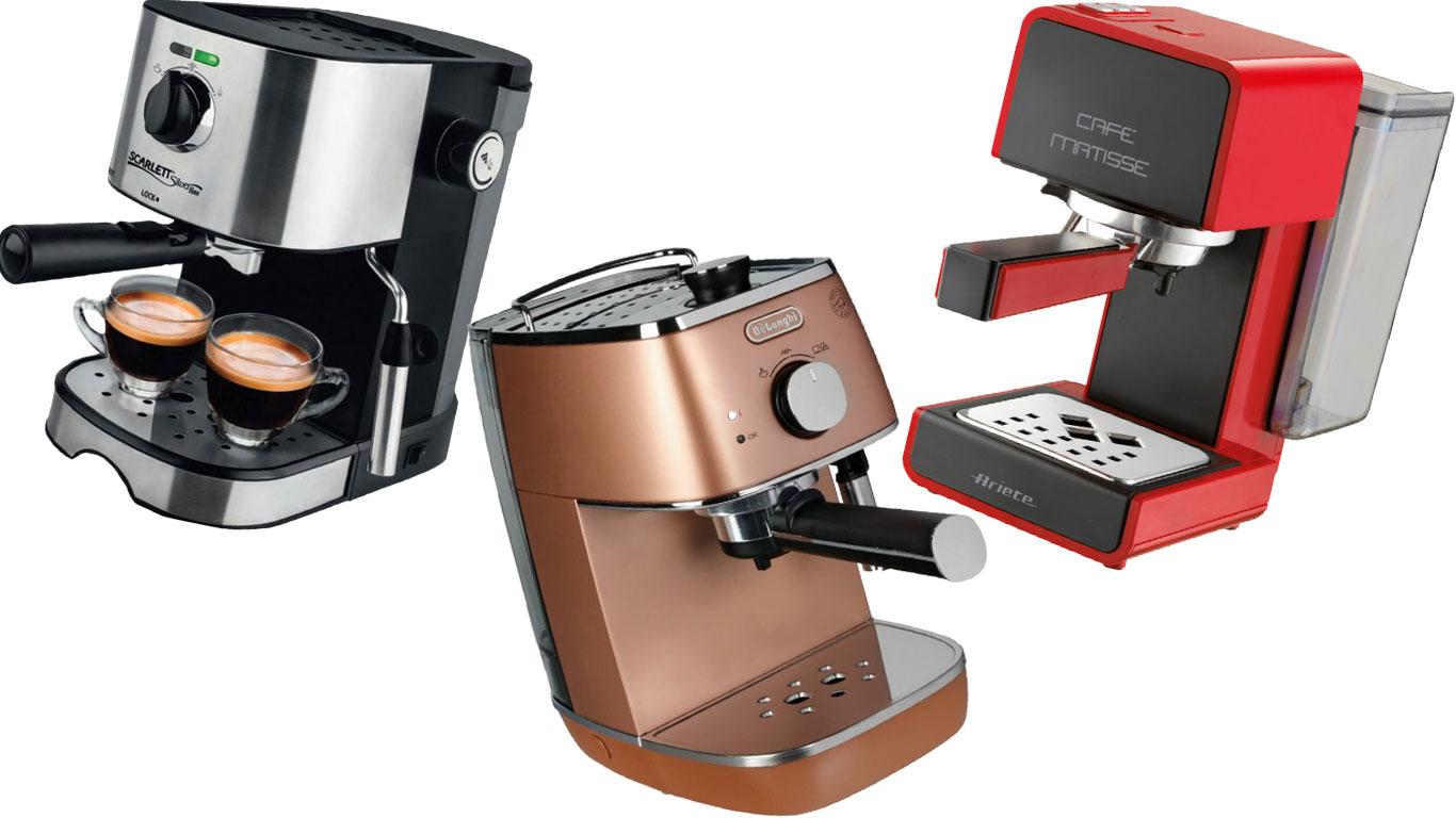 разные кофеварки рожкового типа
