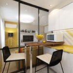 Кухни для студии небольшой площади