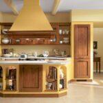 Кухни горчичного цвета