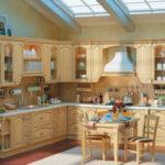 Кухни светлые из натурального дерева