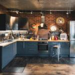 Кухни в стиле лофт с кирпичом