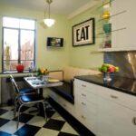 Кухня 10 кв метров с диванчиком