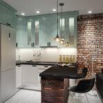 Кухня 10 квадратов в стиле лофт