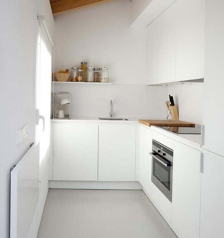 Кухня для дачи в стиле хай-тек