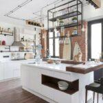 Кухня гостиная светлый лофт