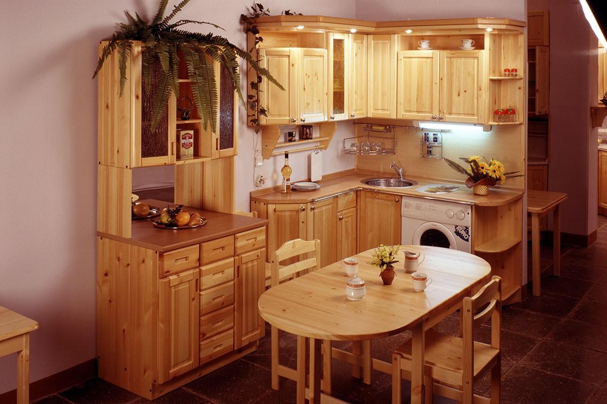 Кухня из дерева сосна