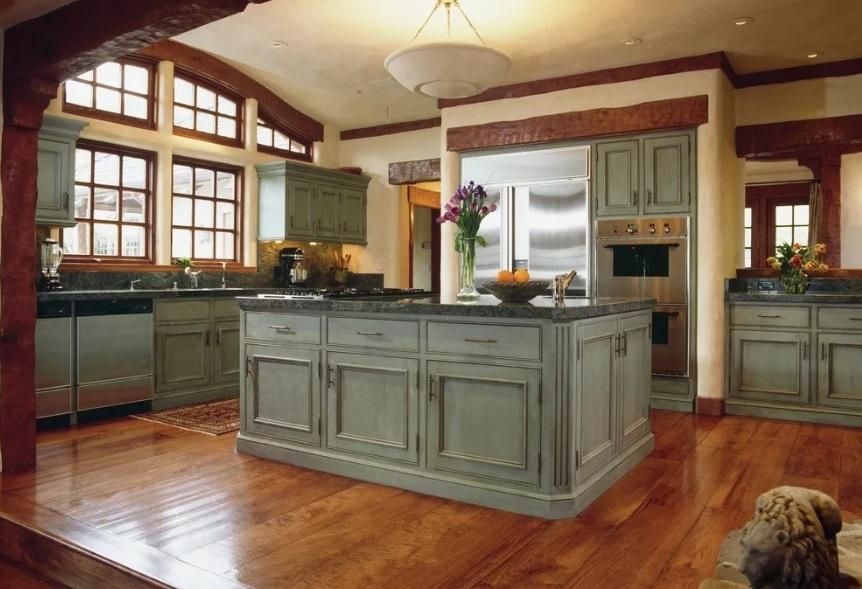 тяжелый стол для кухни ретро