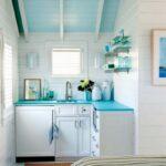 Кухня в бело голубых тонах