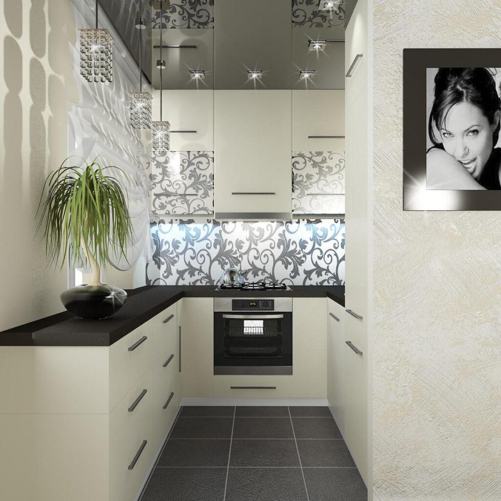 Дизайн кухни чтобы казалась больше фото