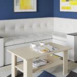 Кухонный диванчик белый