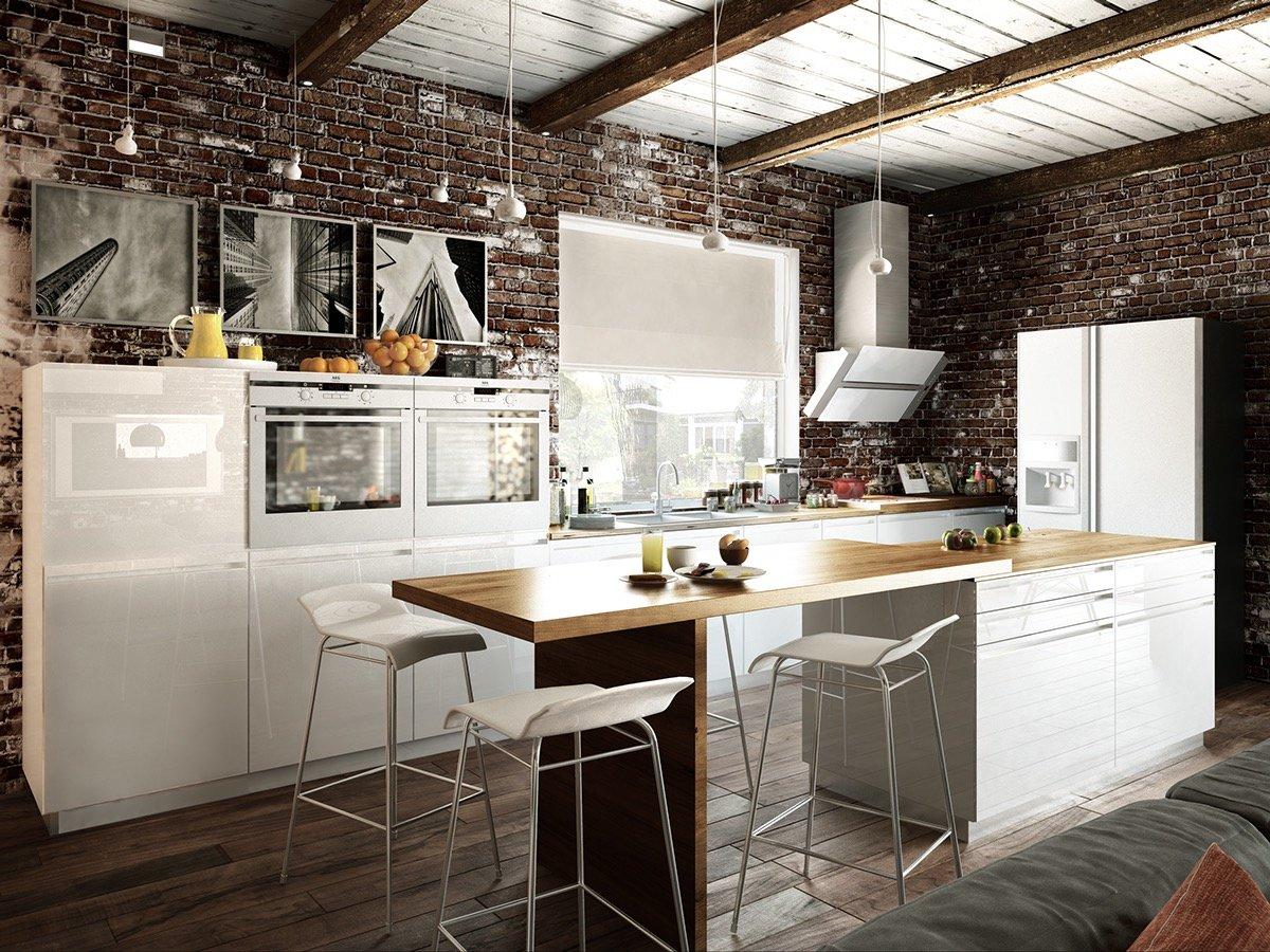 Кухонный гарнитур для кухни в стиле лофт