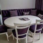 фиолетовый уголок для кухни