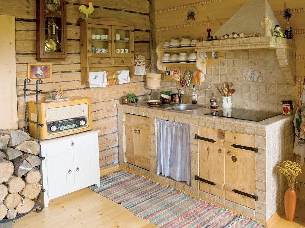 Маленькая кухня для дачи