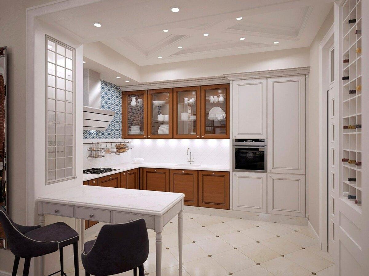 освещение кухни в стиле неоклассика