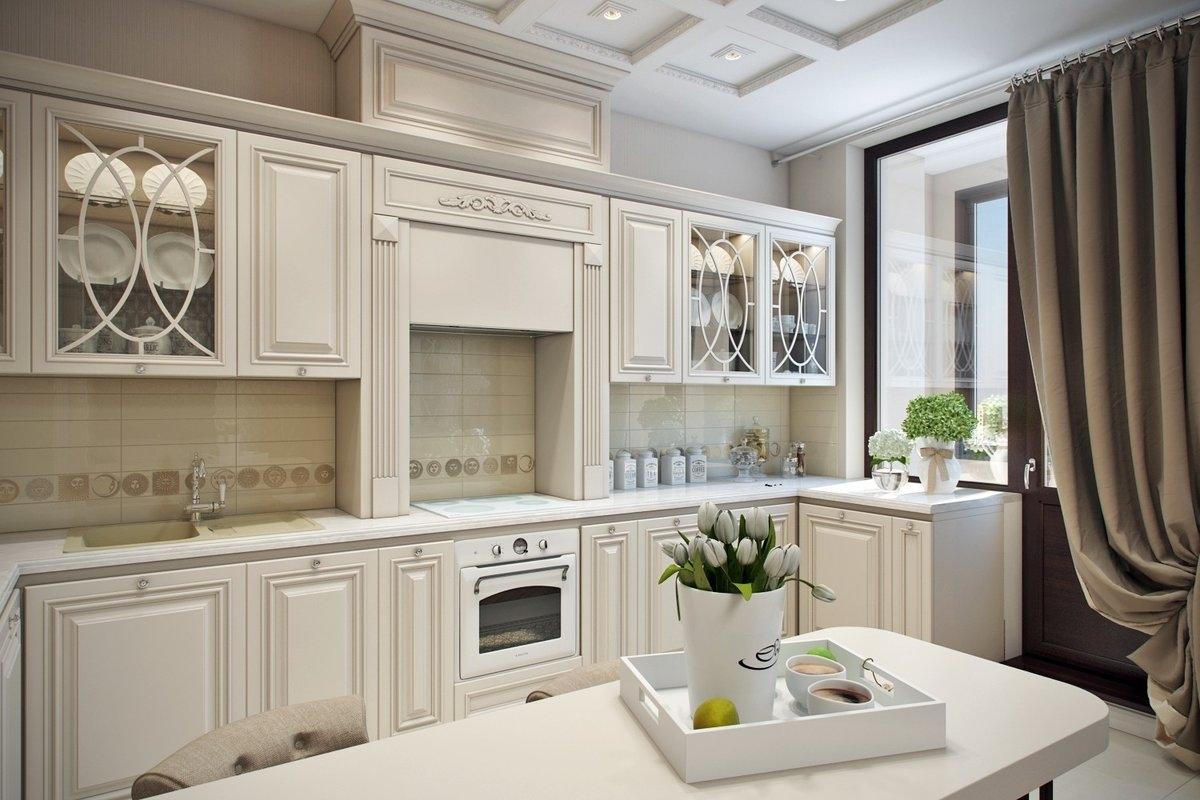 кухонный гарнитур с фасадами