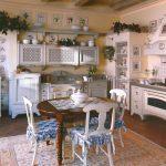 изящная кухня в стиле ретро