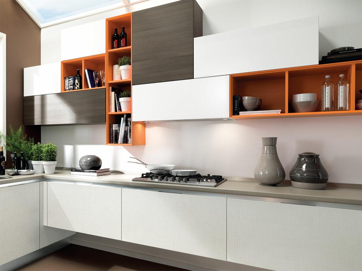 Подвесные шкафчики на кухне