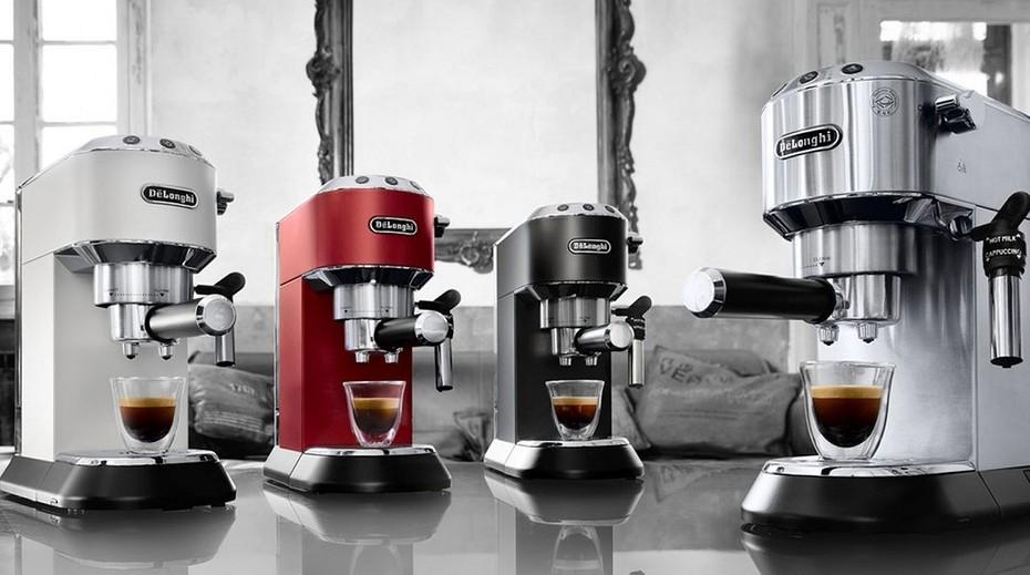 кофеварки рожкового типа разного цвета
