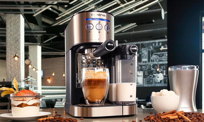 металлическая кофеварка рожкового типа