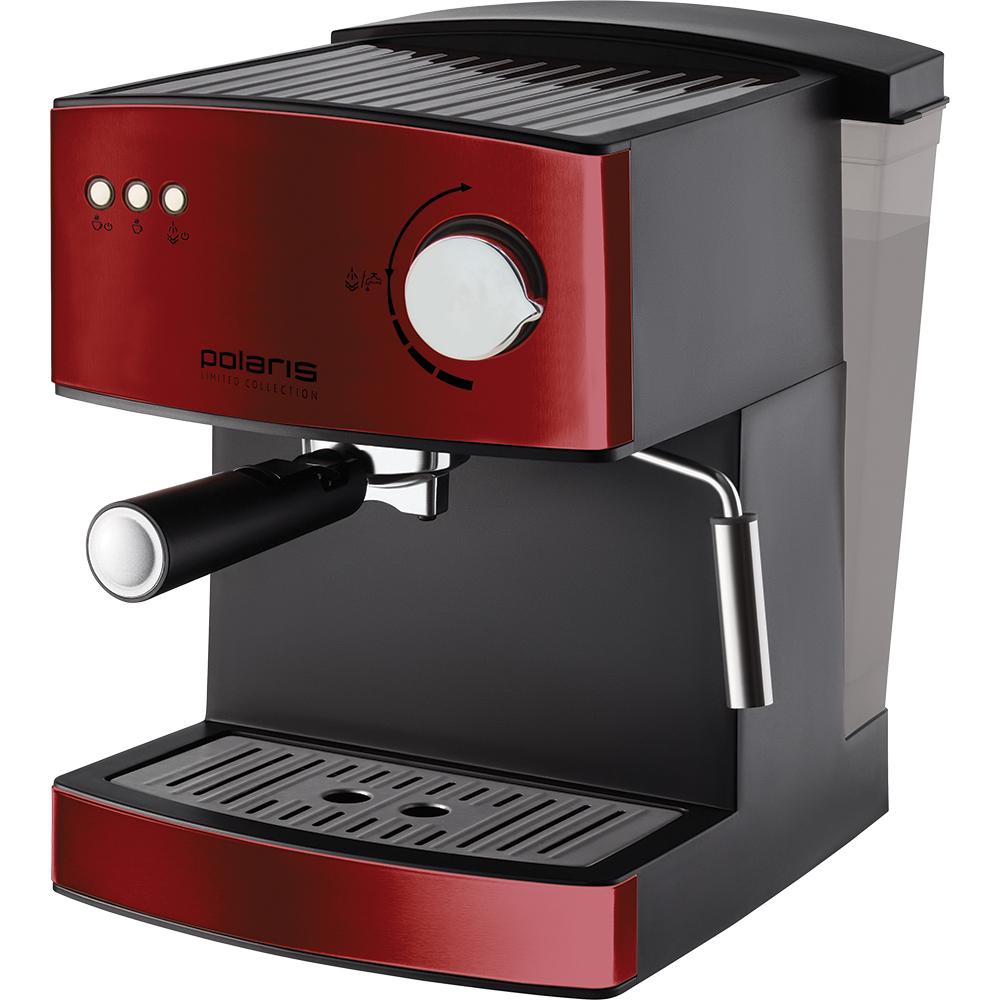 красная рожковая кофеварка для дома