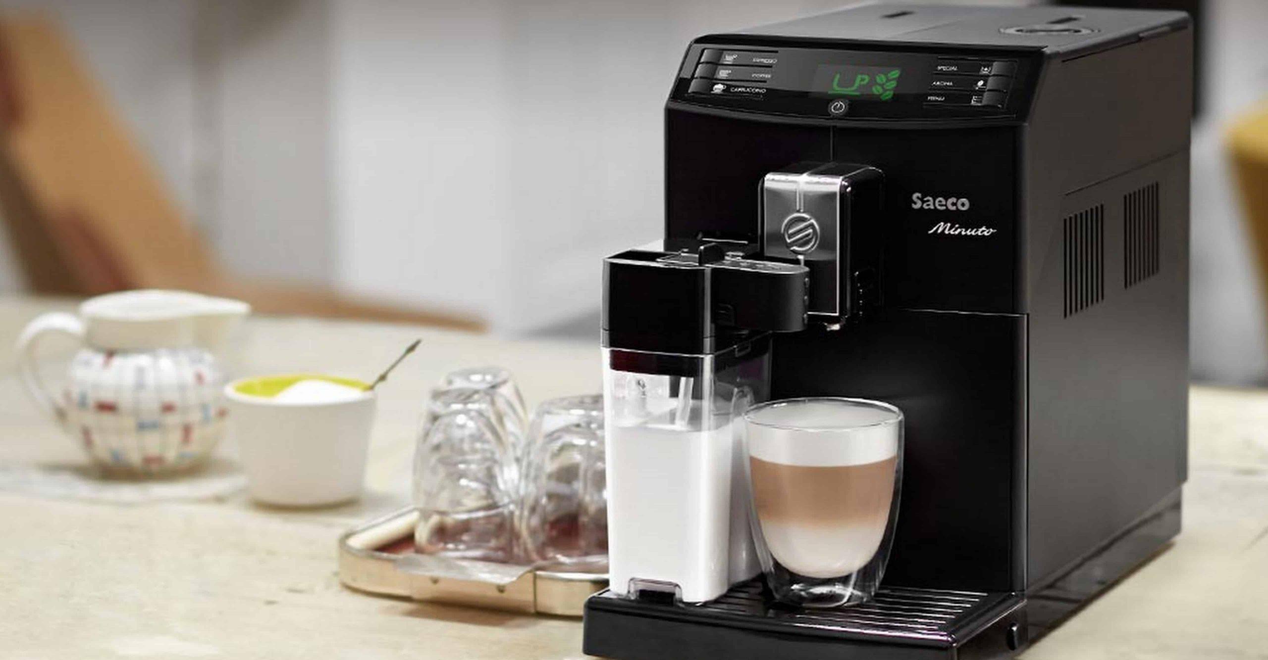рожковая кофеварка для дома черного цвета