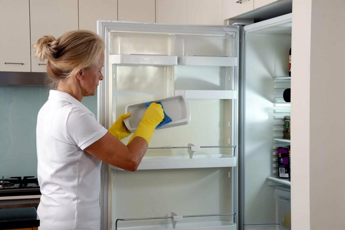 моет холодильник мылом