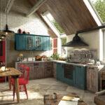 Студия кухни с крутым дизайном лофт