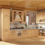 Светлая деревянная кухня