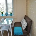 диван со спальным местом на кухне идеи