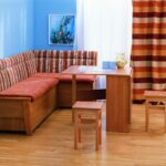 диван со спальным местом на кухне интерьер фото