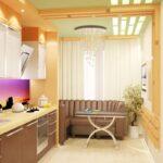 диван со спальным местом на кухне идеи интерьера