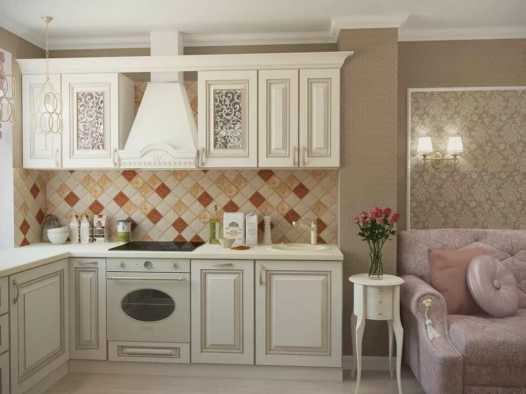 кухня беленый дуб декор фото