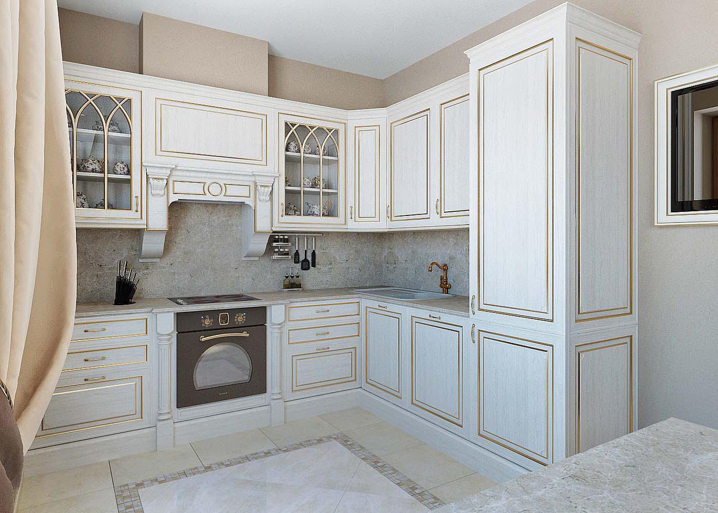 кухня беленый дуб декор идеи