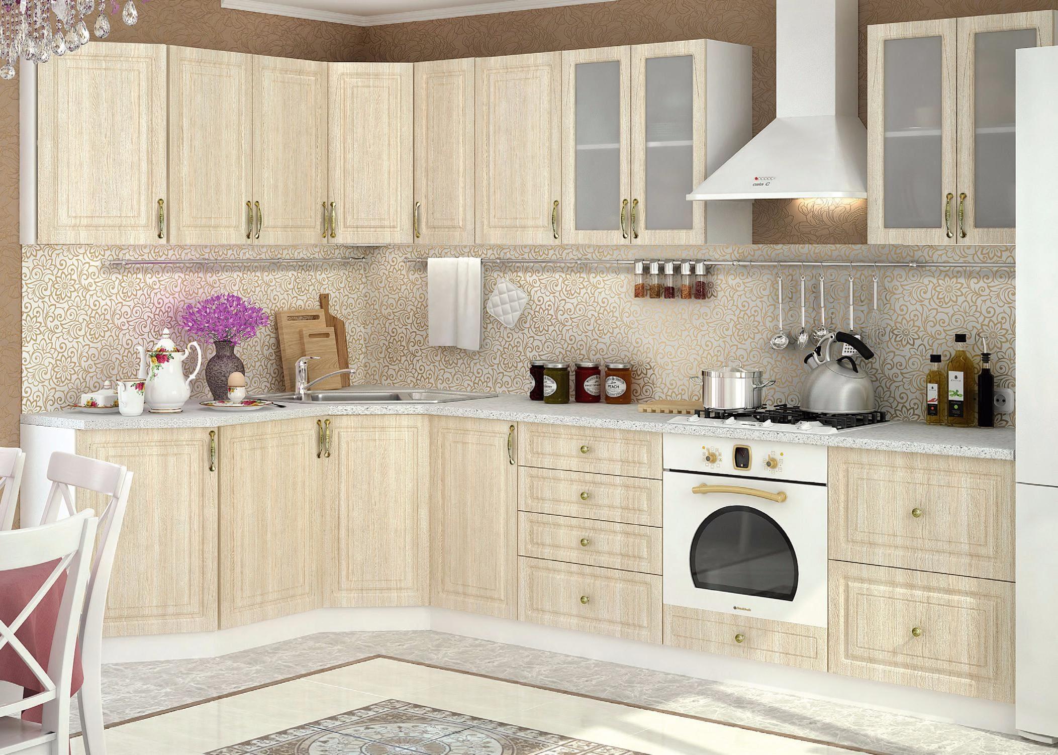 кухня беленый дуб дизайн идеи