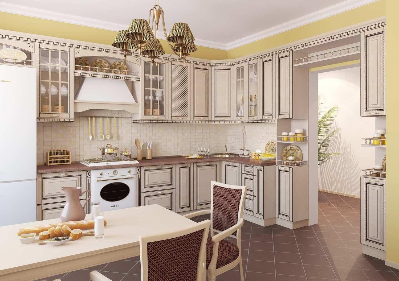 кухня беленый дуб