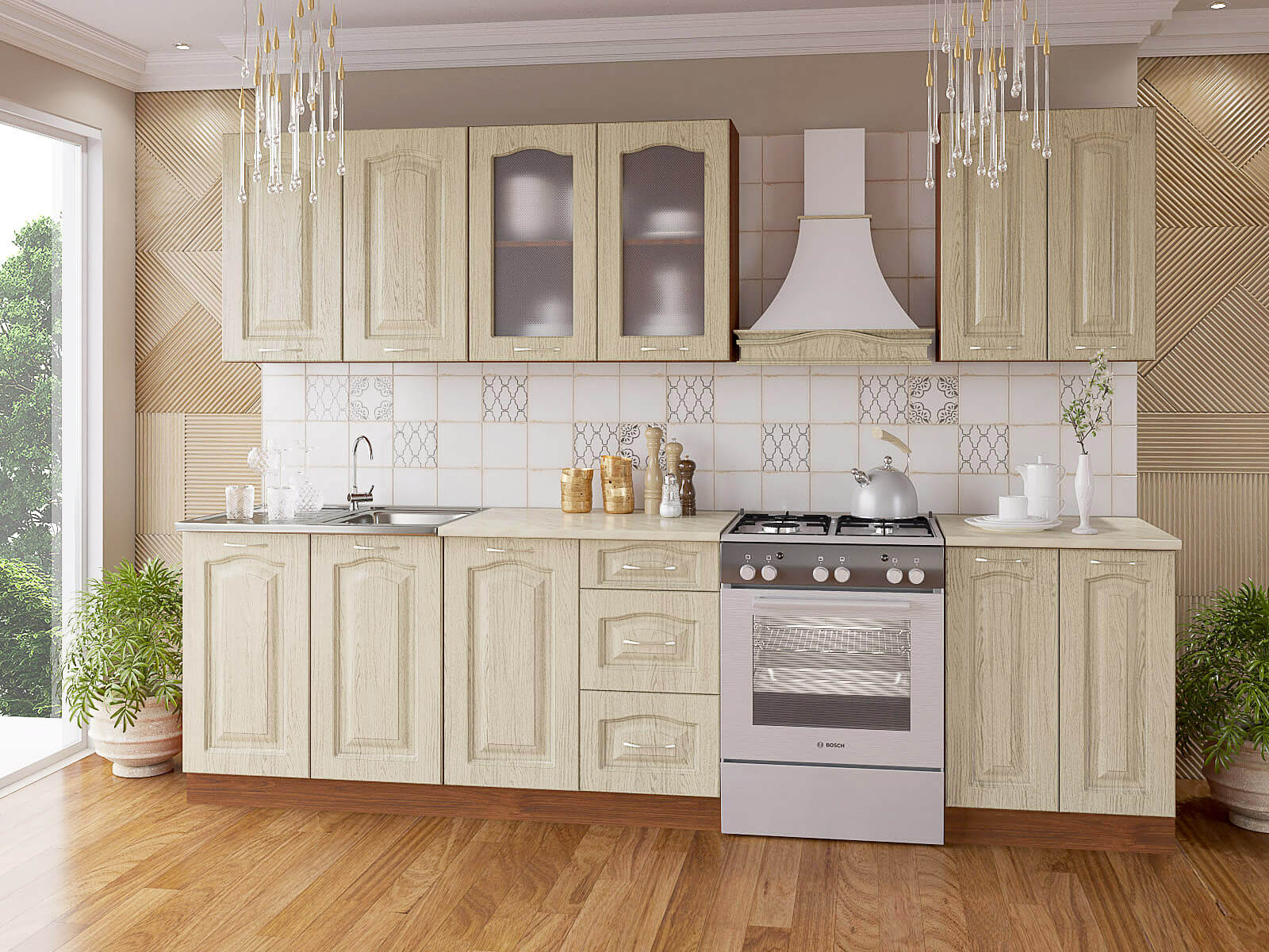кухня беленый дуб фото декора
