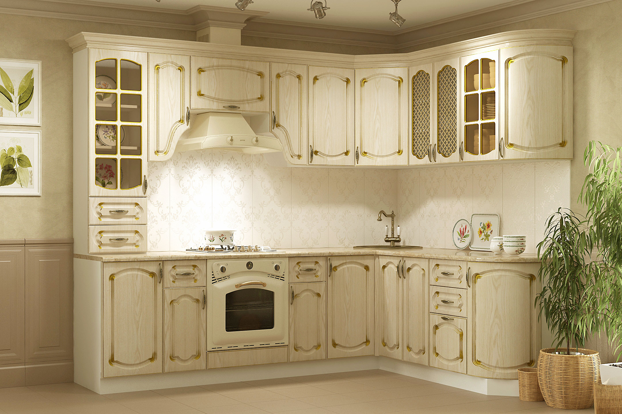 кухня беленый дуб идеи