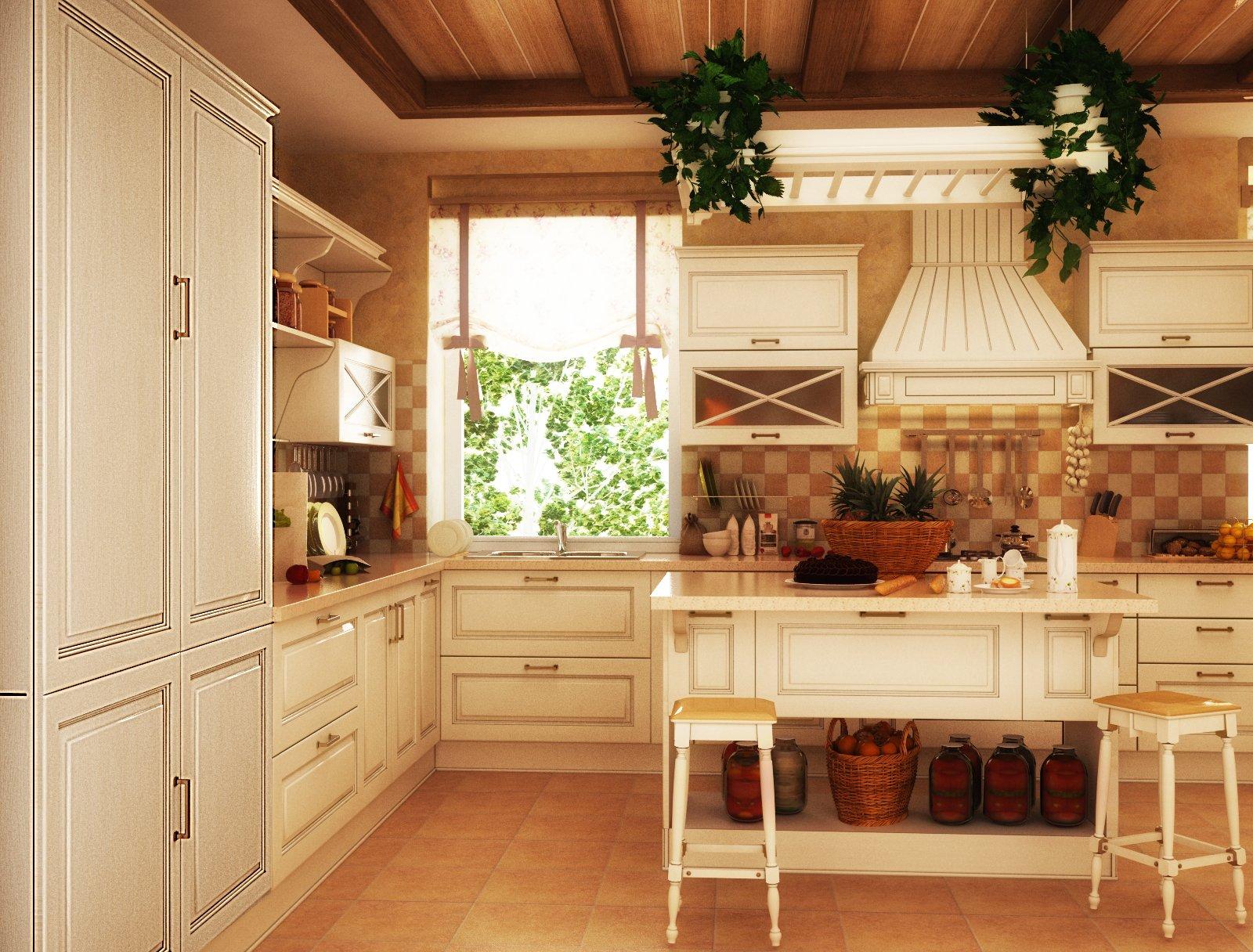 кухня беленый дуб кантри