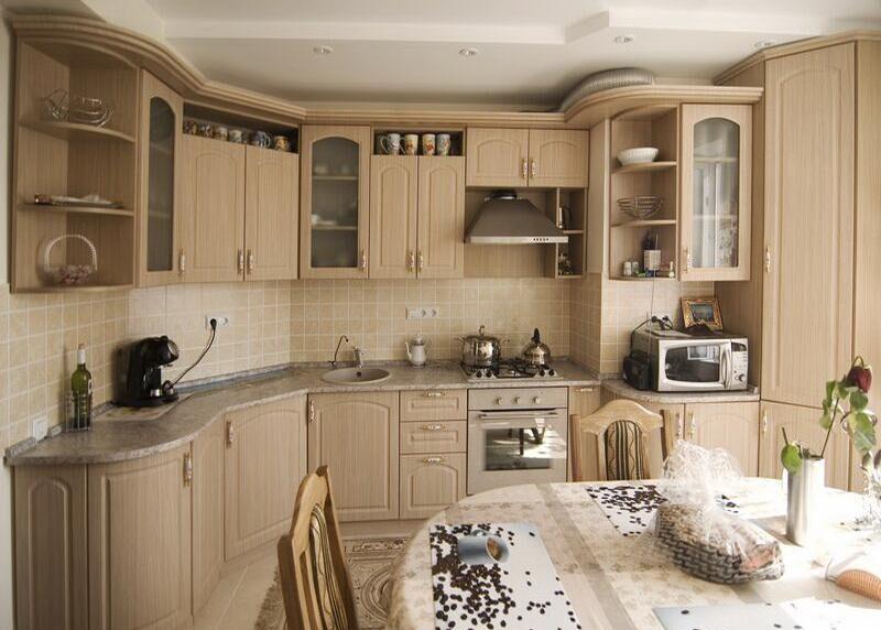 кухня беленый дуб классика