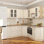 кухня из беленого дуба фото